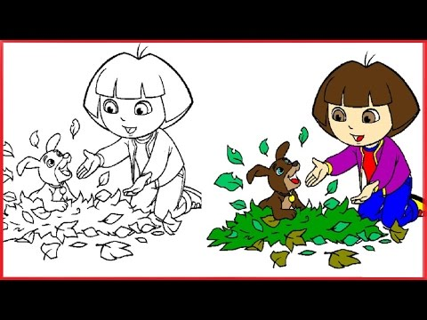 Dora The Explorer Coloring Pages Dora Coloring Book 4 Free Games For Kids Youtube Free Games For Kids Coloring Books Dora The Explorer