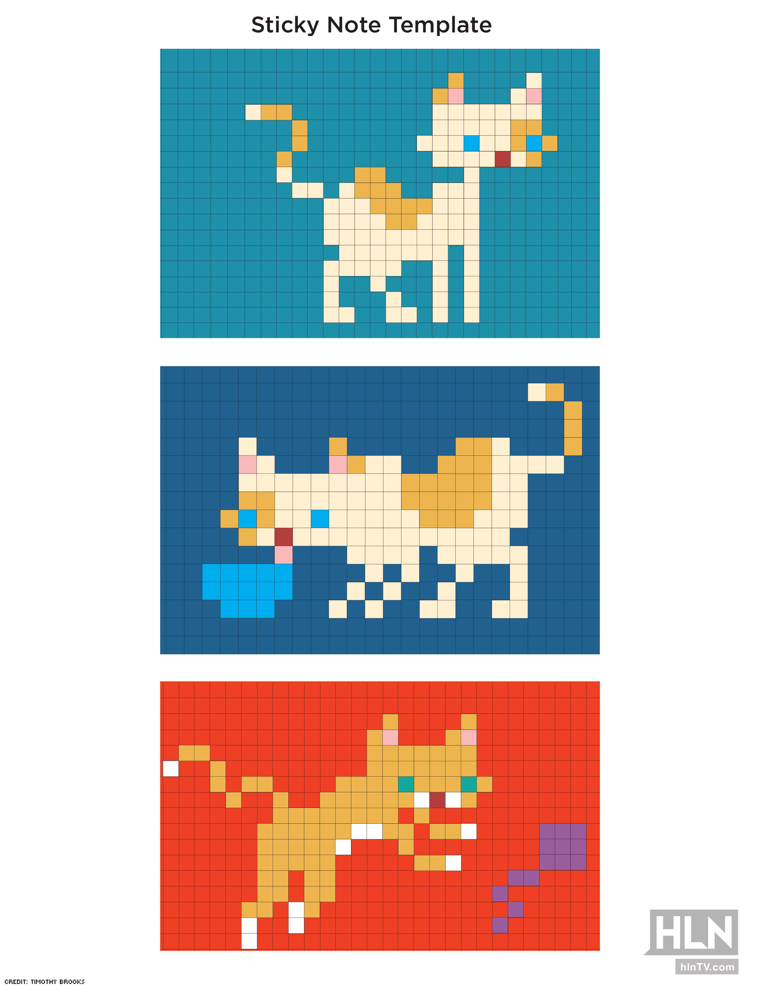 Make Sticky Note Cat Murals Using These Templates Click Through