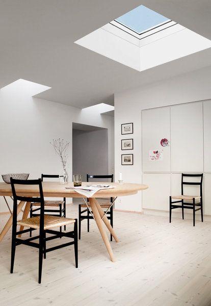 Pour les toits plats, Velux a mis au point une solution efficace - puit de lumiere maison