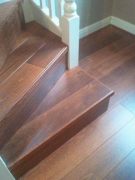 Quick Step Merbau Perspective With Incorporated Incizo Stair Nose.Curved  Bottom Step Made Square.