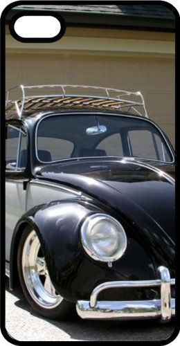 nice Classic VW Beetle Punch Bug Herbie Black Rubber Case for Apple iPhone 6 Plus