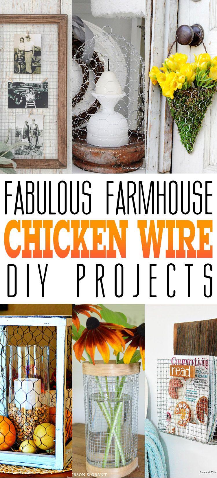 Fabulous Farmhouse Chicken Wire DIY Projects | Best Pins | Chicken
