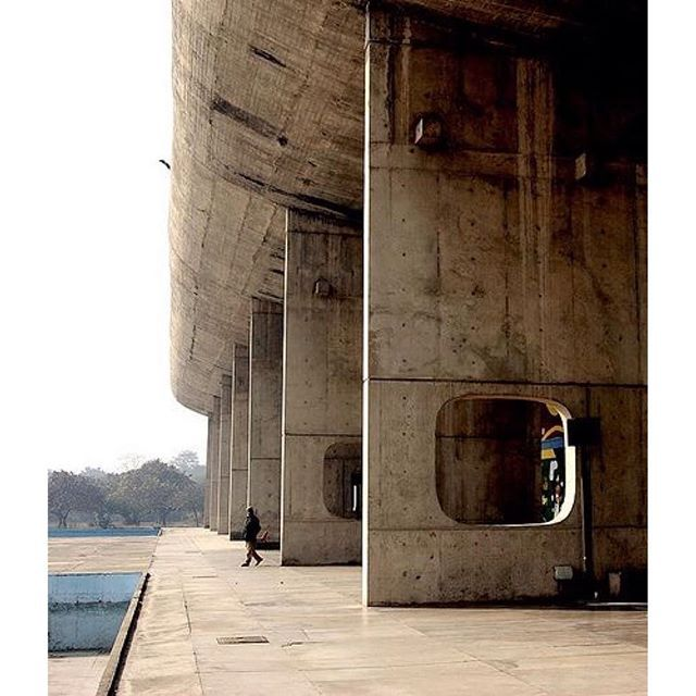 Via Promenadearchitecture Assembly Le Corbusier Chandigarh India