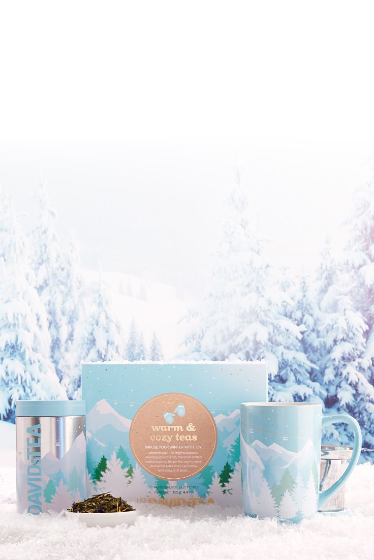 Cozy Up For The Cold Season With Our Heartwarming Winter Collection Davids Tea Tea Gift Box Tea Accessories