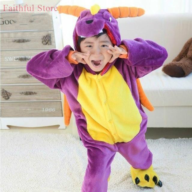 Funny Kids Pajamas Children Adults Spyro Purple Dragon Cosplay Party Costumes Girls Boys All In One & Funny Kids Pajamas Children Adults Spyro Purple Dragon Cosplay Party ...