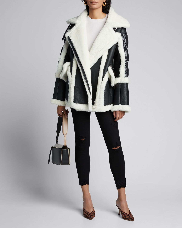Nicole Benisti Montaigne Shearling Puffer Back Coat Nicolebenisti Cloth Shearling Coat Shopping Womens Clothing [ 1500 x 1200 Pixel ]