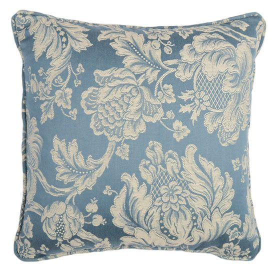 Timeless Floral a beautiful traditional regal design blue and cream cushion. Dimensions 18 x 18 inches (45.72cm), Luxury 100% feather pad. Price £34