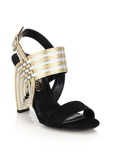 metallic strappy sandals - Black Salvatore Ferragamo Cheap Sale Countdown Package 107fQEZ