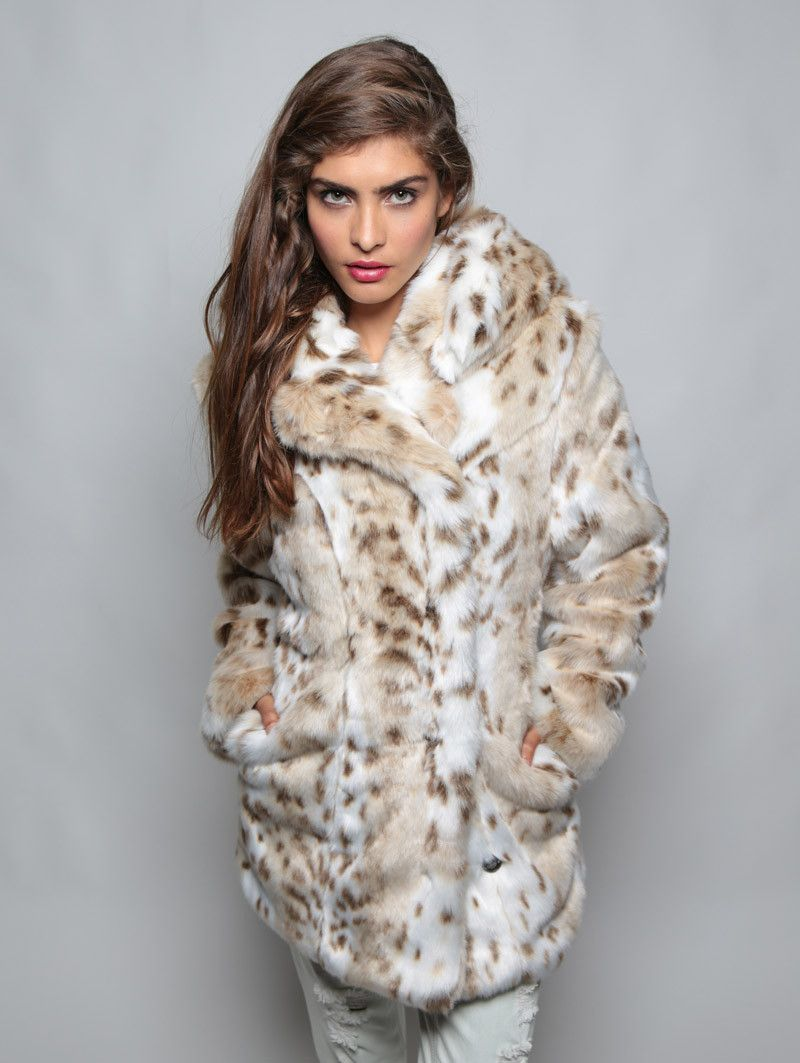 510091896979 Classic Siberian Snow Leopard Faux Fur Coat in 2019 | (mostly) faux ...