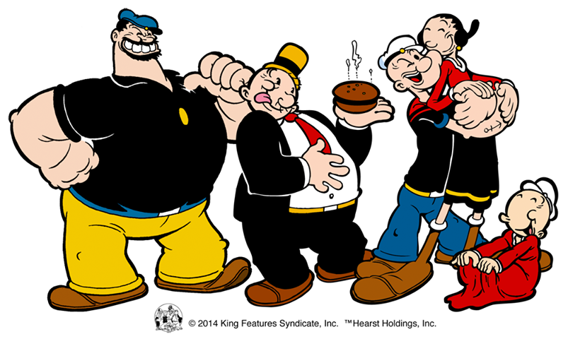 Brutus, Wimpy, Popeye and Olive Oyle | Cartoon Characters ...