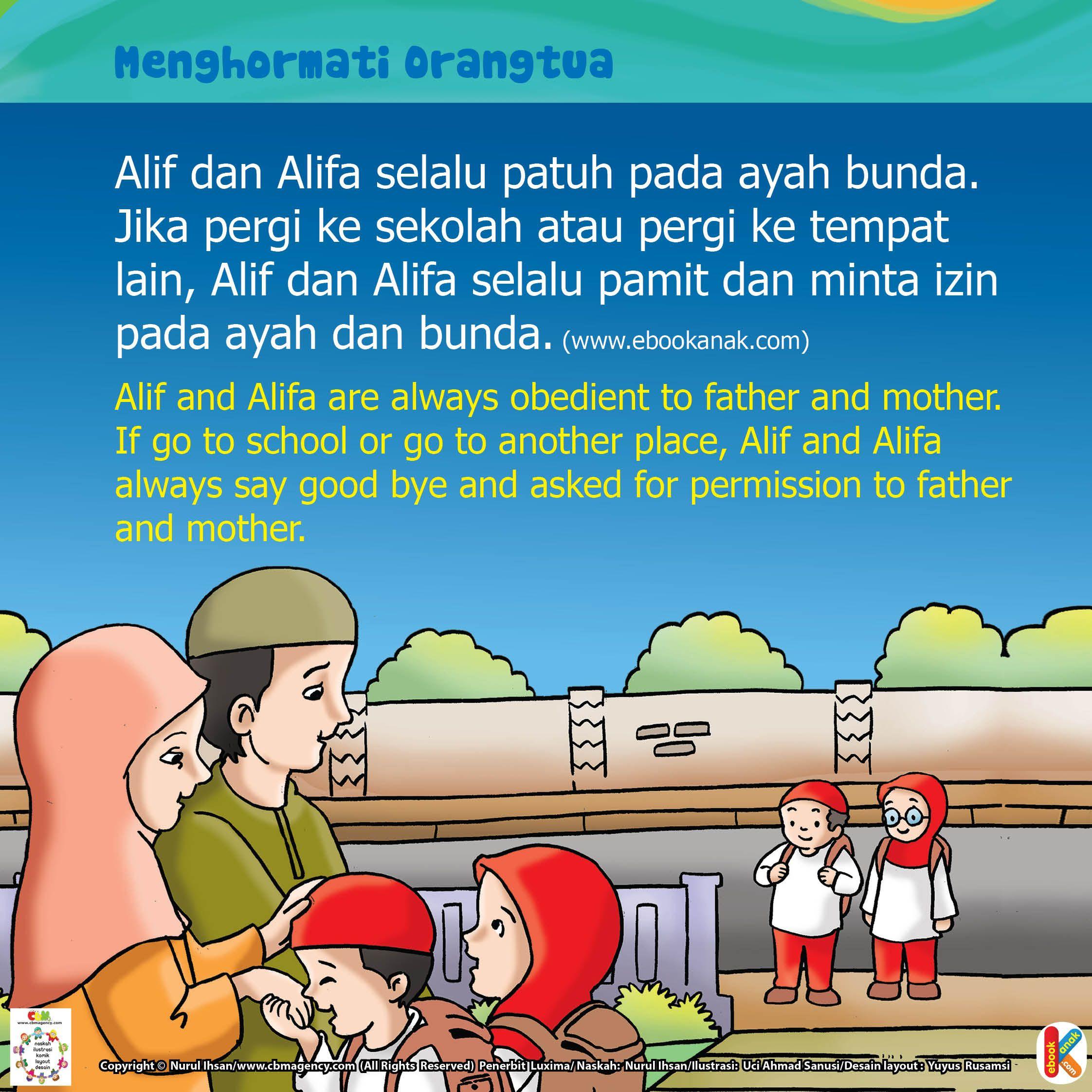 Menghormati Orangtua Ebook Anak Bepergian Literasi Membaca Buku
