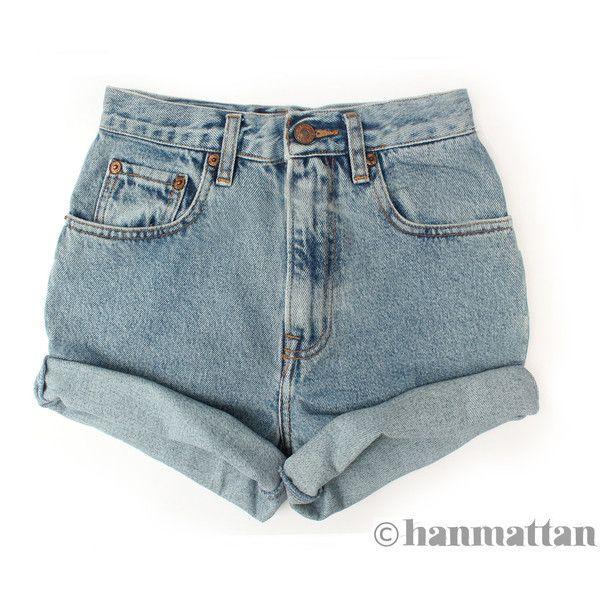 Hanmattan Turn Vintage Waisted Denim Shorts All Sizes Blue Cuffed 26 Liked High Waisted Shorts Denim Vintage High Waisted Shorts Vintage Denim Shorts