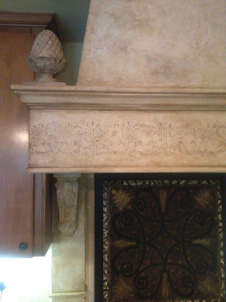 plastered spanish style range hood | Venetian plaster ...