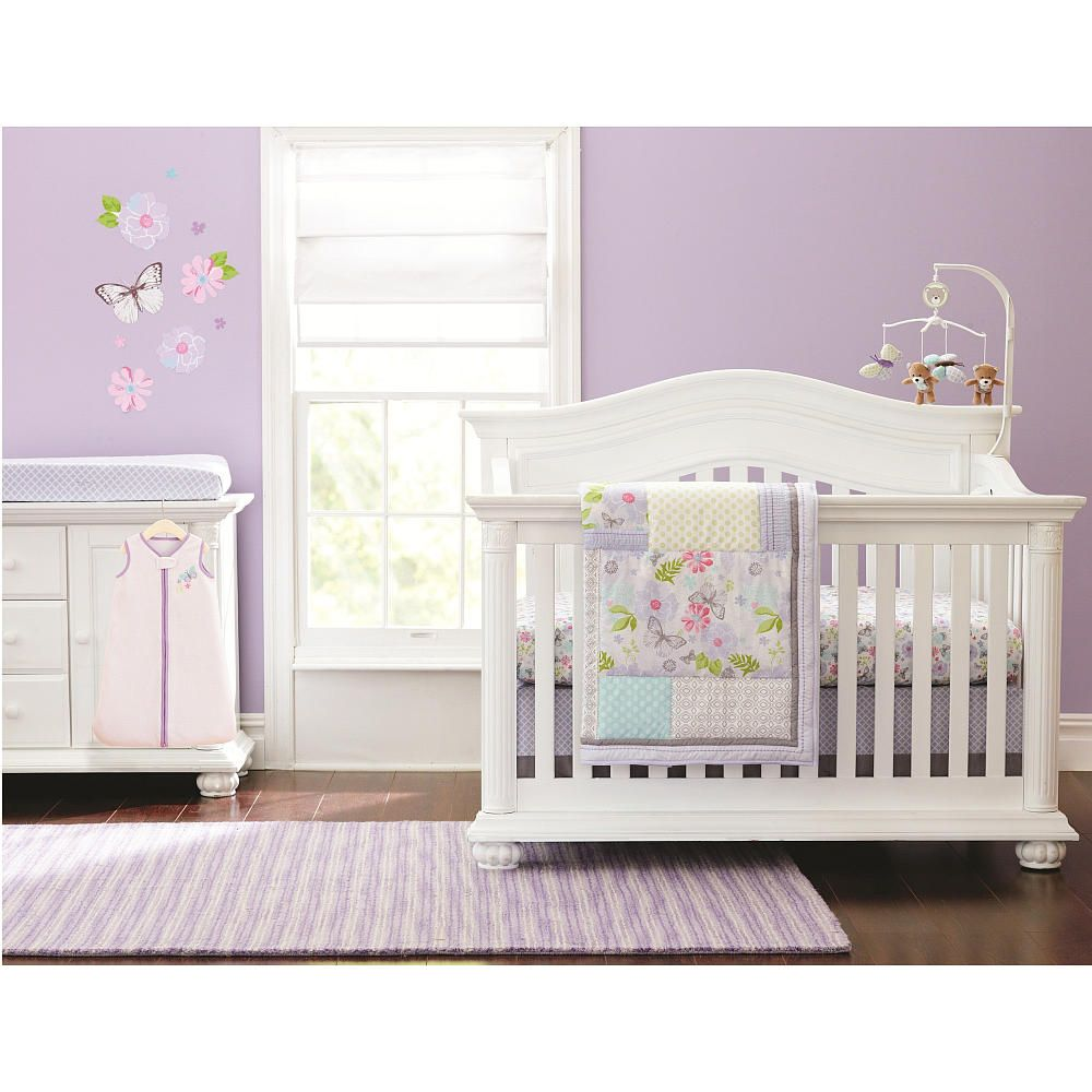 Crib for twins babies r us - Just Born Girls Bella 6 Piece Crib Bedding Set I Like This Quilt And Sheet Set Girlie But Not Over The Top Babies R Us Pretty Purple