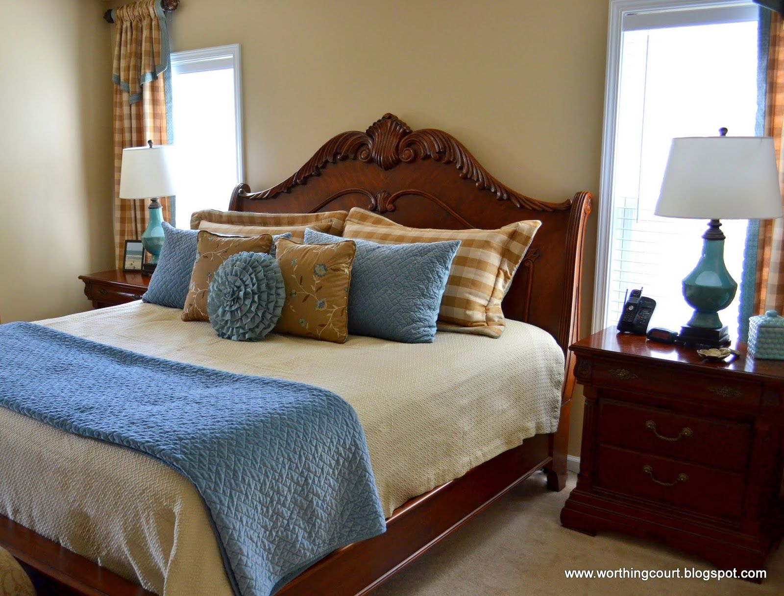 blue and tan bedroom ideas | Design Ideas: Blue Brown Eyes, Master ...
