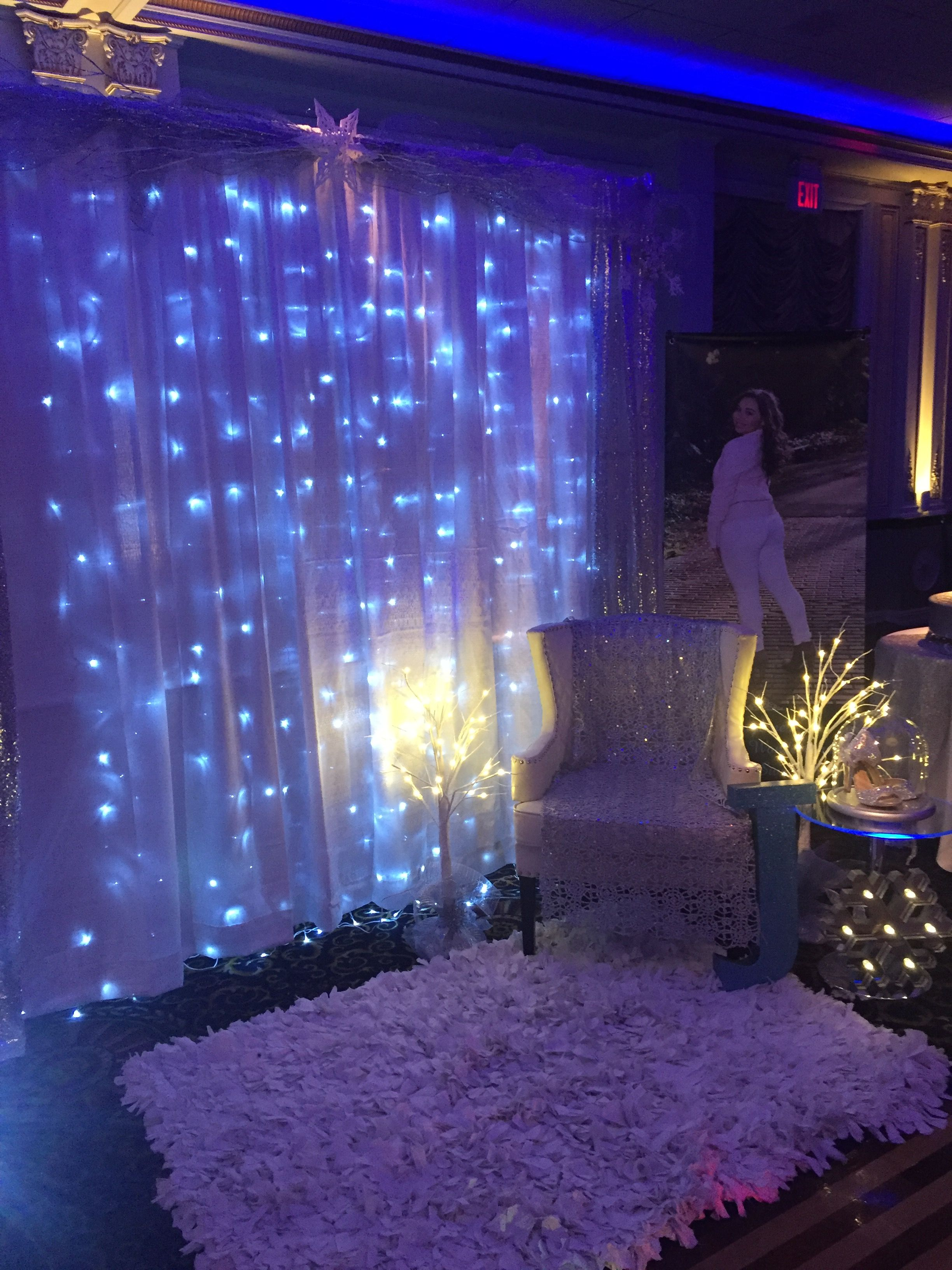 Princess Chair Set-up - Winter Wonderland Sweet 16 ...