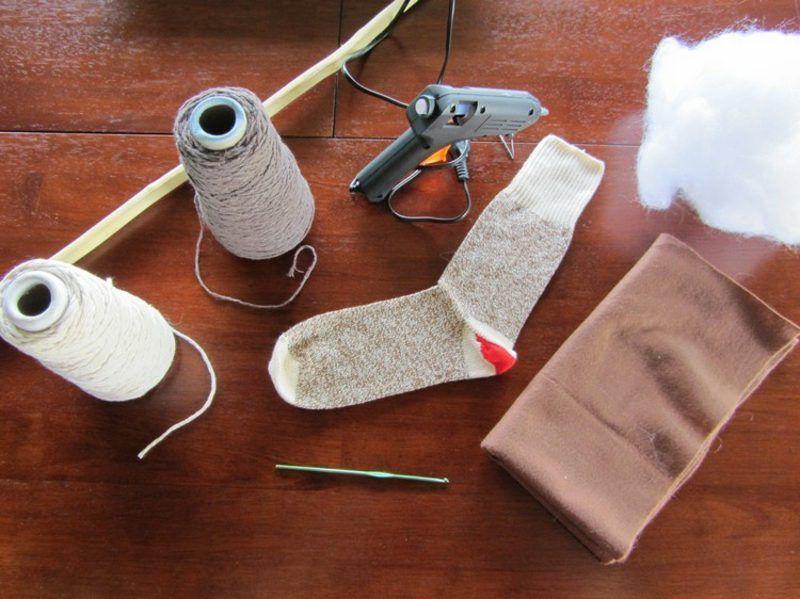 Steckenpferd selber machen notwendige Materialien #cowboysandcowgirls