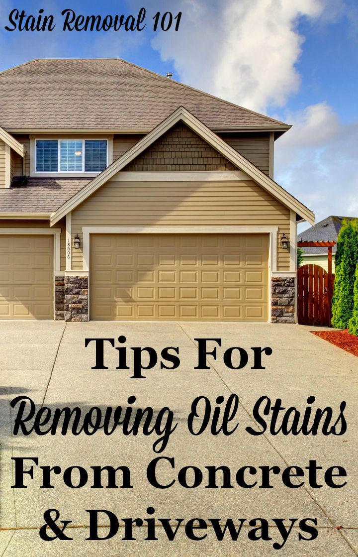 removing oil stains from concrete tips instructions the best diy pins pinterest. Black Bedroom Furniture Sets. Home Design Ideas