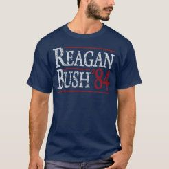 Ronald Reagan Bush 84 Retro Election t shirt | Zazzle.com