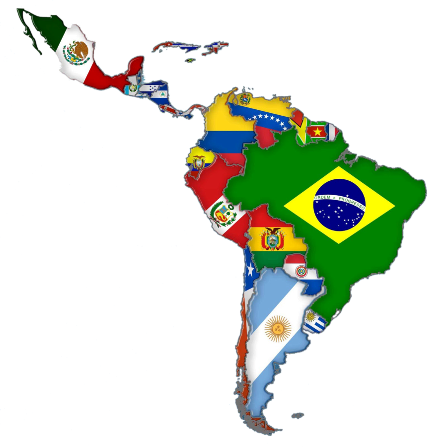 Map Latin Of Flags America South South America Flag South America Animals South America Map