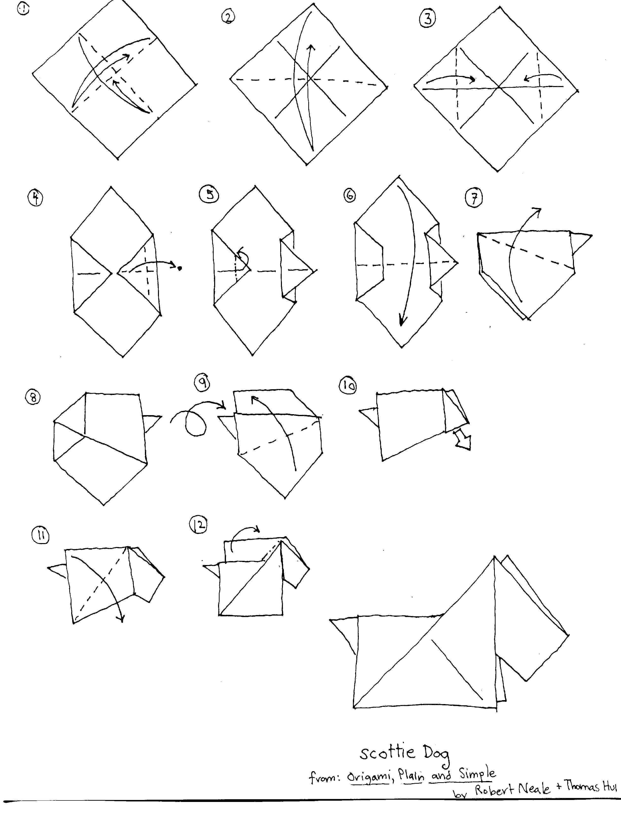 Scottie Origami How To