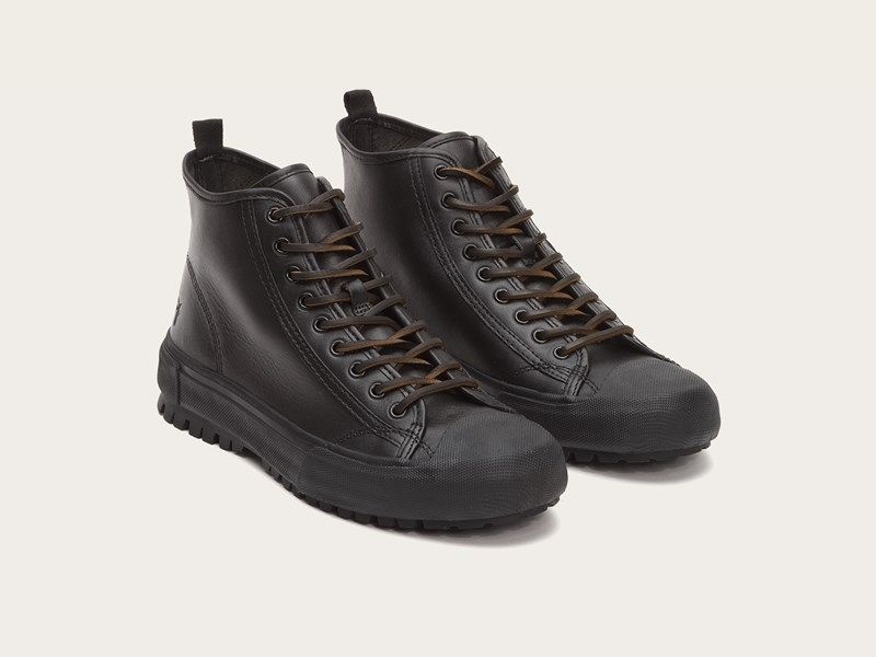 8223ef5a59f FRYE | Ryan Lug Midlace - Black | Men's Classic Shoes | Shoes, Dress ...