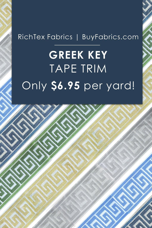 Greek Key Tape Trim Only 6 95 Per Yard At Buy Fabrics Com