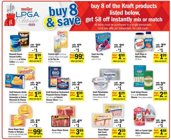 photograph relating to Meijer Printable Coupons called MEIJER: Incredibly hot Bargains upon Kraft Merchandise - Dont miss out on it! Observe