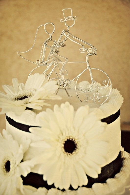 Bicycle Wedding Cake Topper Personalized Double Riders: JOYRIDE ...