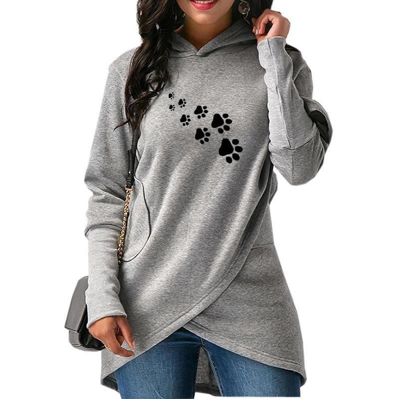 X-Future Womens Irregular Hem Plus Size Solid Casual Pullover Hoodies Dress Top