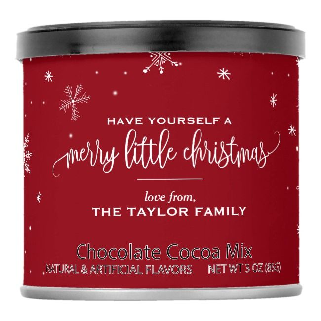 Red Snowflake Christmas Cocoa Mix    Red Snowflake Christmas Cocoa Mix
