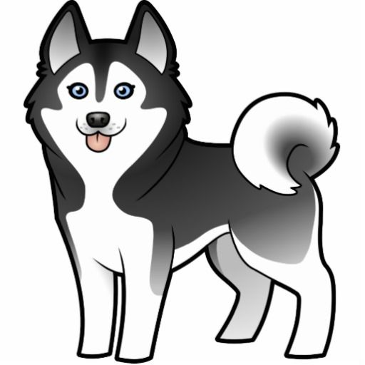 husky cartoon images   Cartoon Siberian Husky / Alaskan Malamute Photo Cut Outs