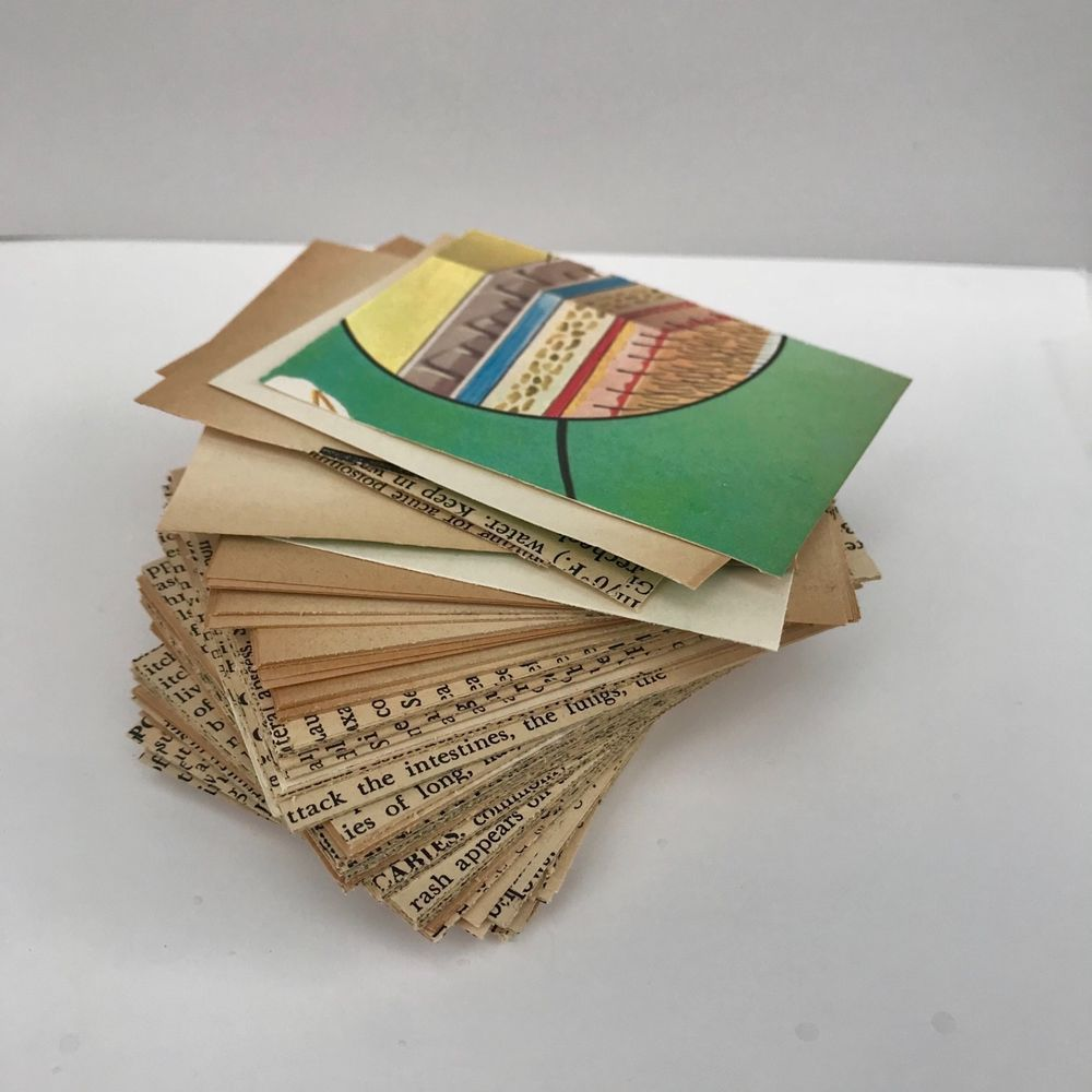 25 vintage book atc artist trading card supplies artist