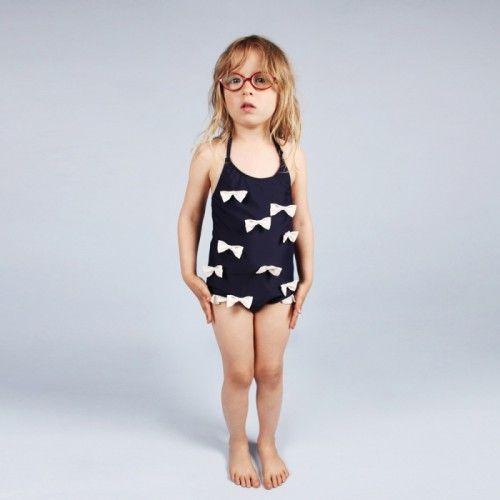 Mini Rodini Swimsuit Bow // Poppyscloset.com