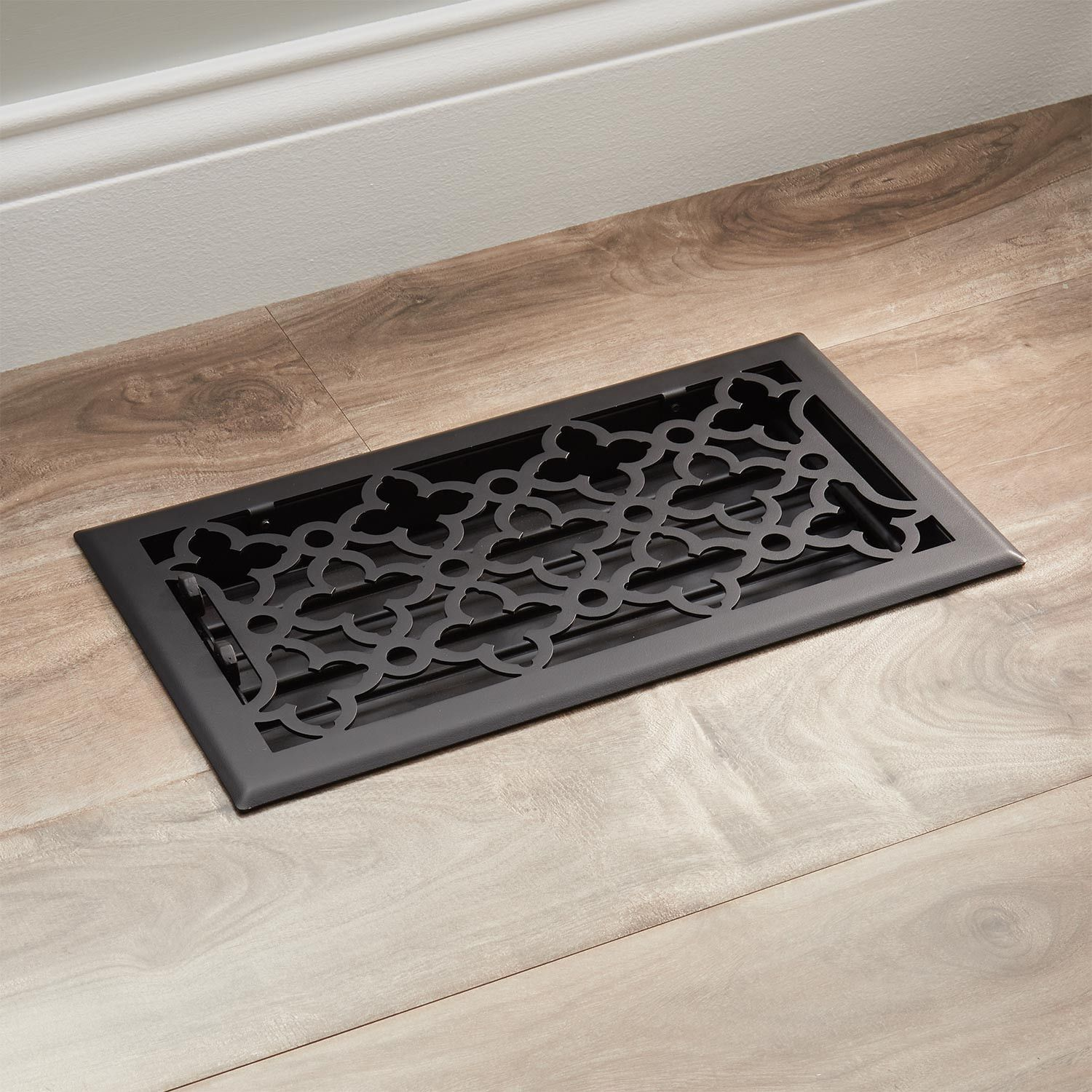 Signature Hardware Ballas Steel Floor Register 4x14 27 Floor Registers Decorative Vent Cover Flooring