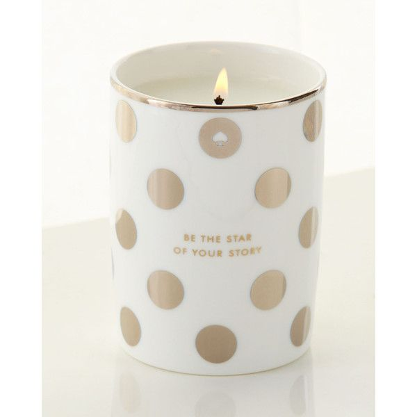 kate spade new york Be The Star of Your Story Candle (€36) ❤ liked on Polyvore featuring home, home decor, candles & candleholders, fragrance candles, kate spade, scented candles and kate spade home decor