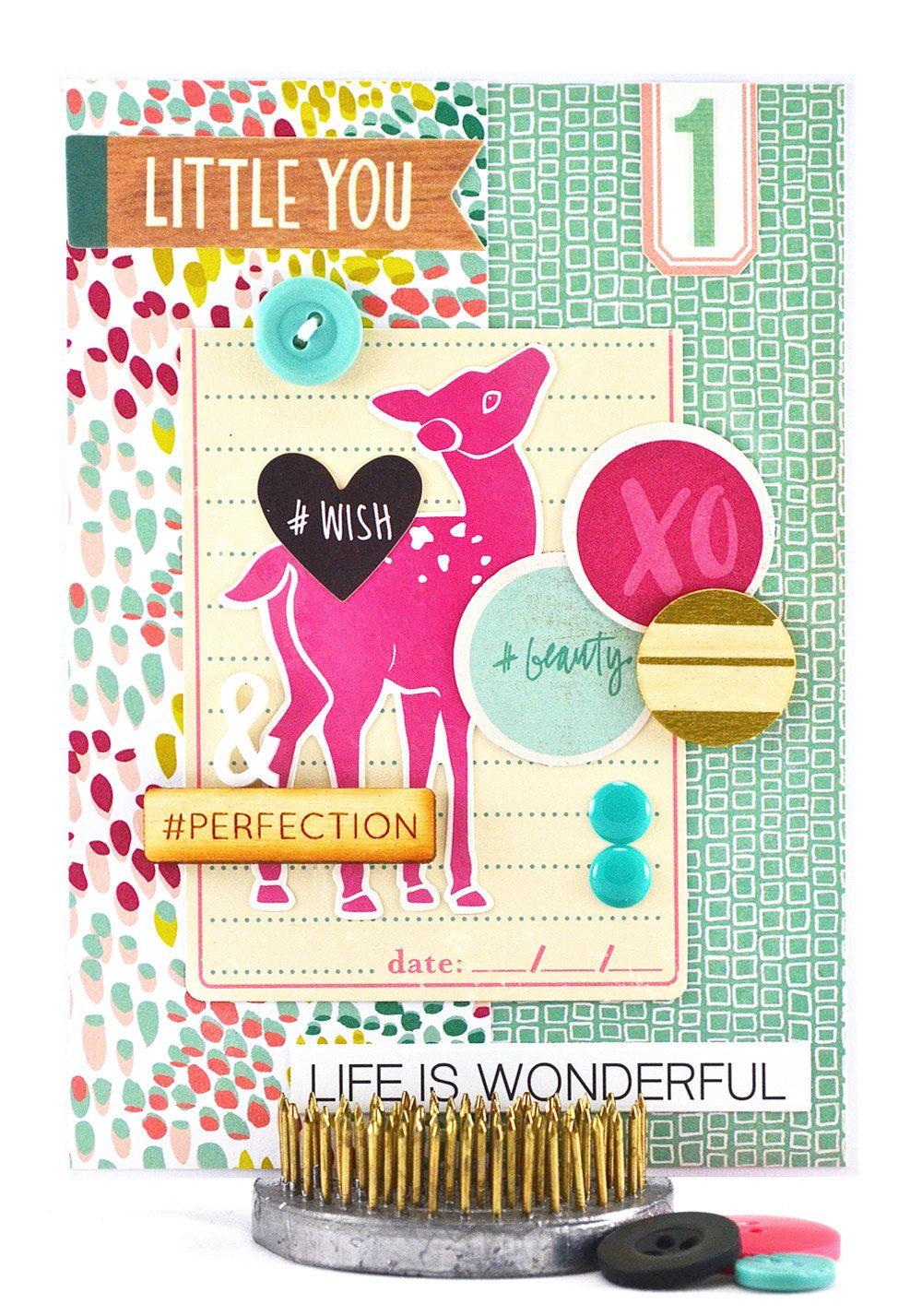Baby first birthday card 12 month birthday card one