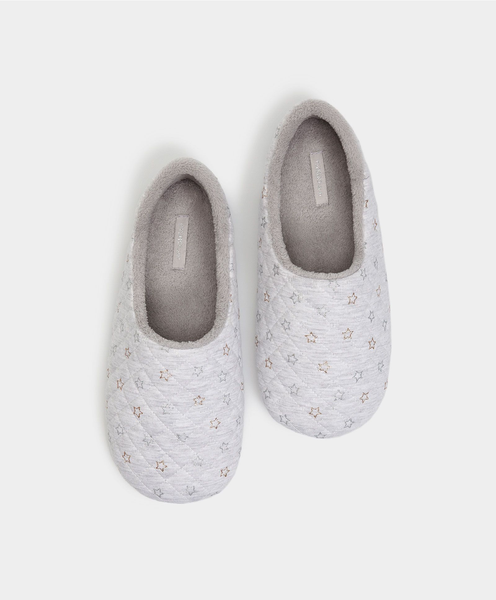 d89a2daa5f Metallic stars slippers - FOOTWEAR   Oysho España - Canarias ...