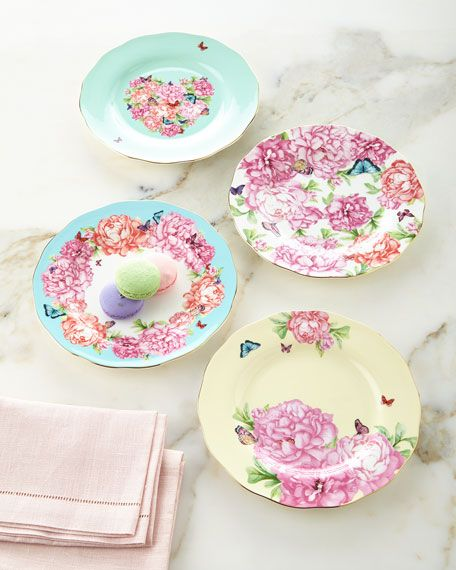 Miranda Kerr For Royal Albert Accent Plates 4 Piece Set Miranda Kerr Royal Albert Colorful Dinnerware