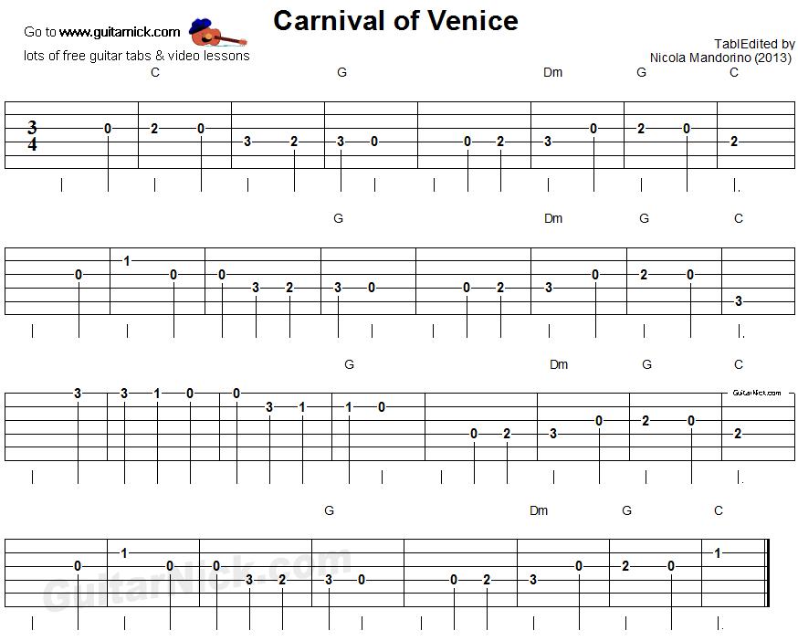 CARNIVAL OF VENICE GUITAR EPUB