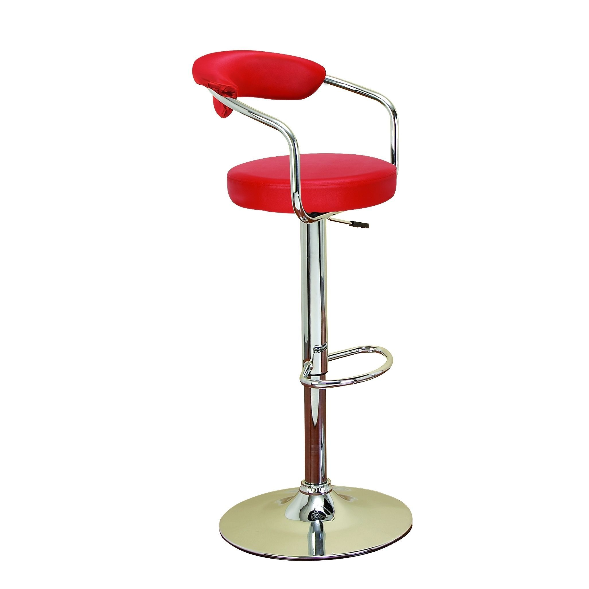 Chrome Vinyl Bar Chair For Stylish Bar Seating Chair Red Metal