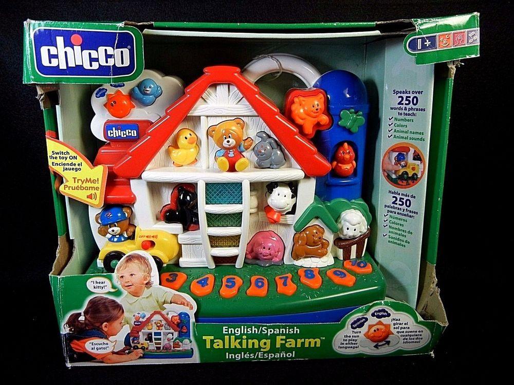 2004 Chicco Interactive Bilingual Talking Farm Spanish And English Original Box Chicco Original Box The Originals Spanish