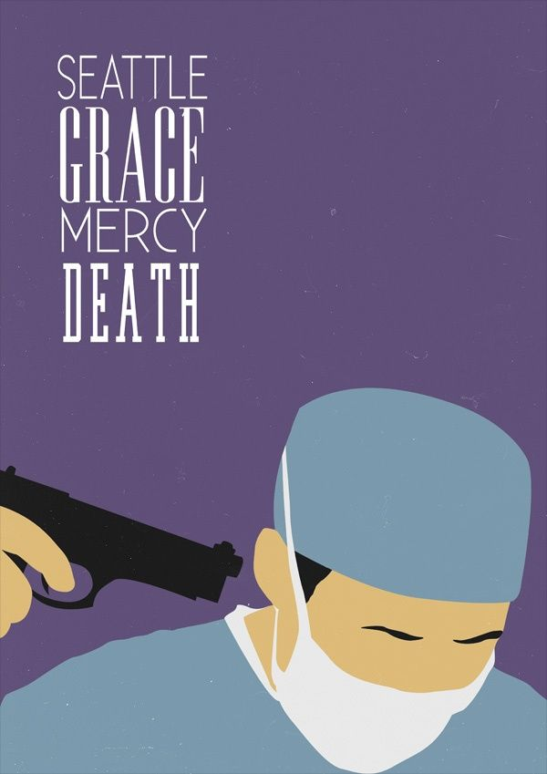 Seattle Grace Mercy Death Minimalist Tv Serie Poster Design Show