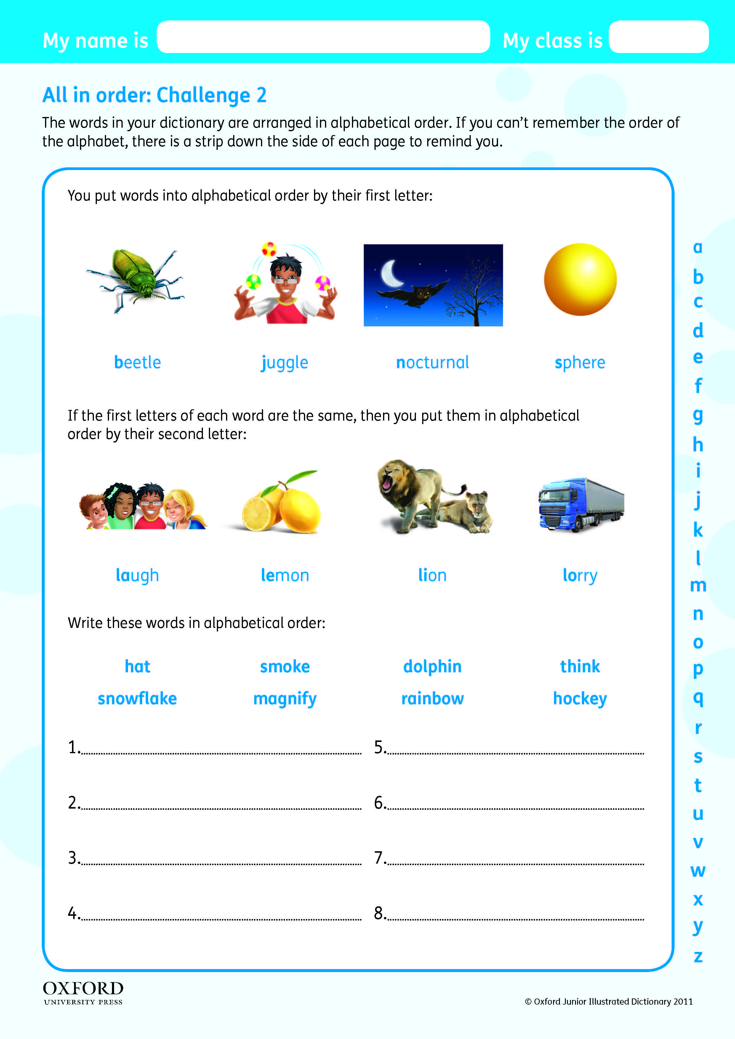 Download Your Free Oxford Junior Illustrated Dictionary Super Challenge Worksheet Teach Children Alphabet Worksheets Preschool Preschool Worksheets Dictionary [ 3508 x 2481 Pixel ]