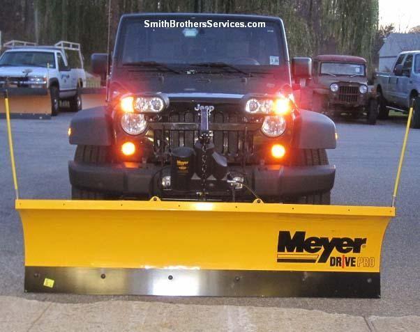 2010 Jeep Wrangler Rubicon Meyer Drive Pro 6 8 Snow Plow 2010 Jeep Wrangler Jeep