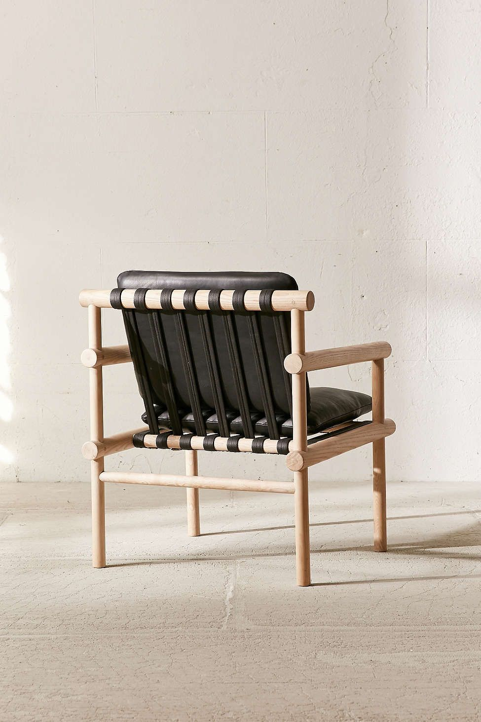 Urban Arm Chair #18 - Leather Dowel Arm Chair