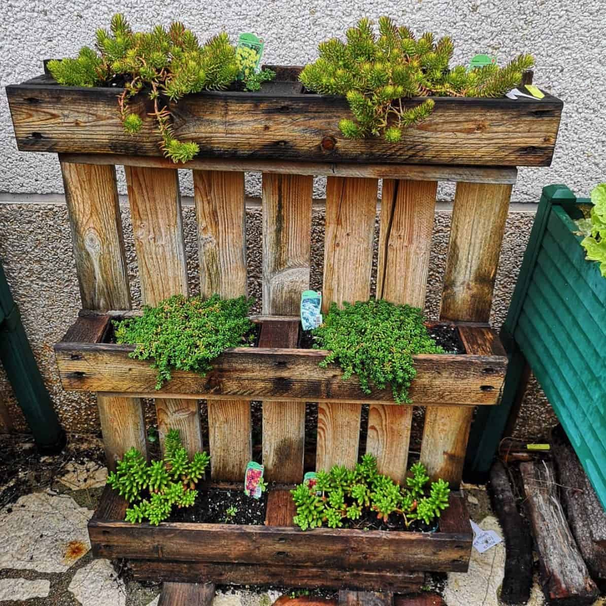 21 Spectacular Recycled Wood Pallet Garden Ideas To DIY in