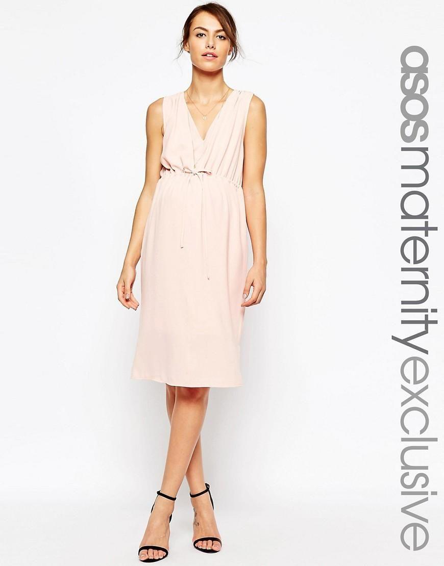 Breastfeeding dresses for weddings  ASOS Maternity  ASOS Maternity NURSING Midi Dress With Drawstring