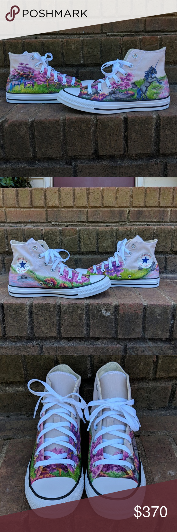 139bdc61134 Spotted while shopping on Poshmark  🦄HP Unicorn Original Art Converse  Sneakers W8!  poshmark  fashion  shopping  style  Converse  Shoes
