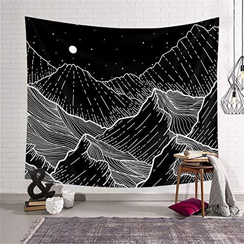 Room With Mountain Tapestry
